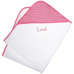 """""""Loved"""" Cotton Candy Chevron Towel Girl Gift Set"""