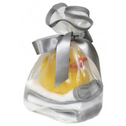 """Loved"" Silver Kiss Wash Cloth Gift Set"