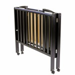 2 in 1 Folding Portable Crib - Black