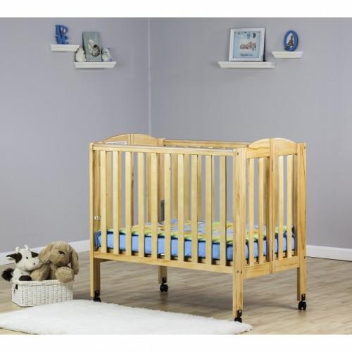 2 in 1 Folding Portable Crib - Natural