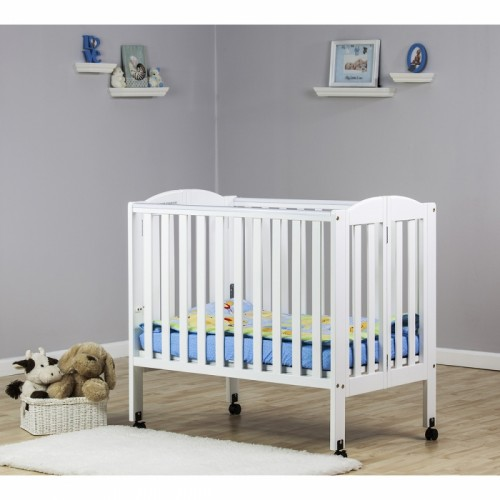 2 in 1 Folding Portable Crib - White