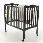 2 in 1 Lightweight Folding Portable Crib - Black