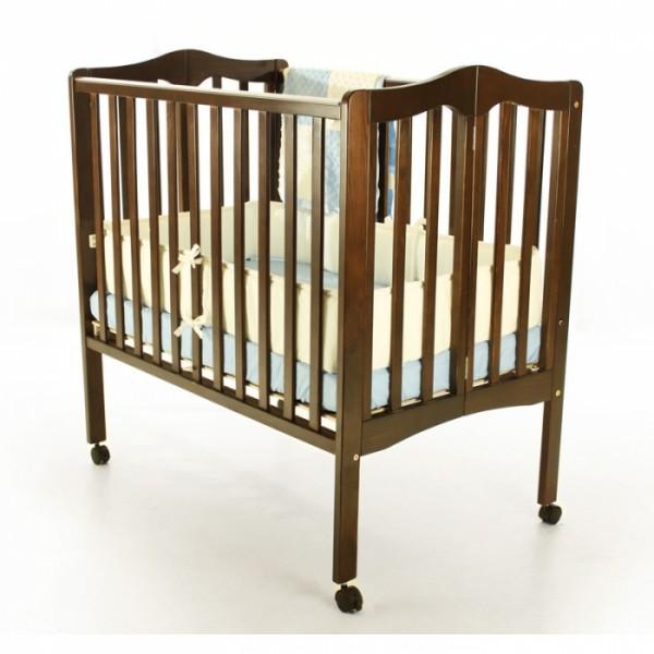 2 In 1 Lightweight Folding Portable Crib Espresso Sugarlovebabyboutique Com
