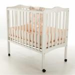 2 in 1 Lightweight Folding Portable Crib - White