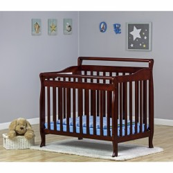 3 In 1 Portable Convertible Crib   Cherry