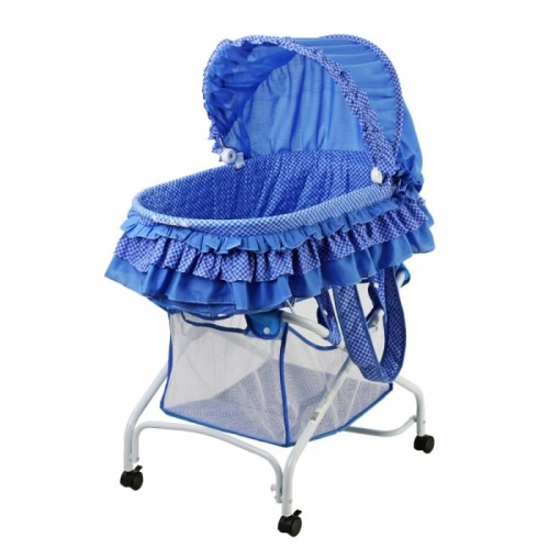 2 in 1 Bassinet To Cradle - Blue