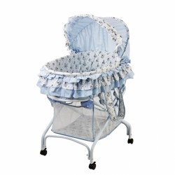 2 in 1 Bassinet To Cradle - Light Blue