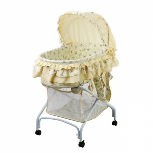 2 in 1 Bassinet To Cradle - Yellow