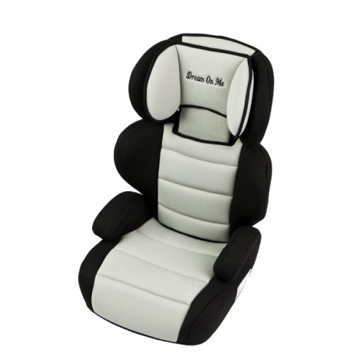 Deluxe Booster Car Seat – Black & Ivory