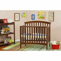 Eden 4 In 1 Convertible Mini Crib - Espresso