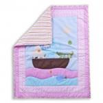 Sea Friends 3 Pcs Set Reversible Portable Crib Set