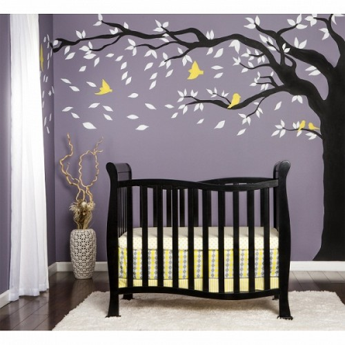 Violet 4 in 1 Convertible Mini Crib - Black