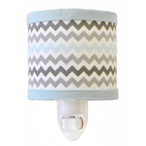 Chevron Baby in Aqua Night Light
