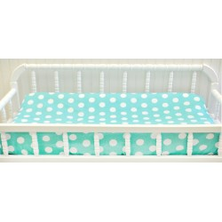 Pixie Baby in Aqua Polka Dot Changing Pad Cover